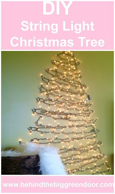 A DIY String Light Christmas Tree Alternative! Find out exactly how to make your own on Behind the Big Green Door.