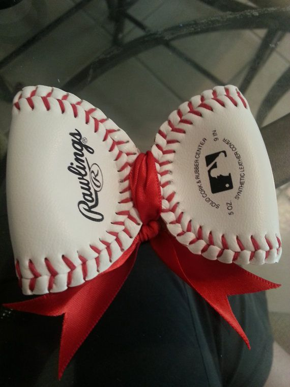 softball or baseball hair bow. by allisonbmitchell on Etsy