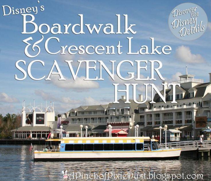 A Pinch of Pixie Dust: Disney's Boardwalk & Crescent Lake Area Scavenger Hunt