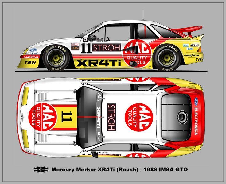 Mercury XR4Ti - IMSA 1988
