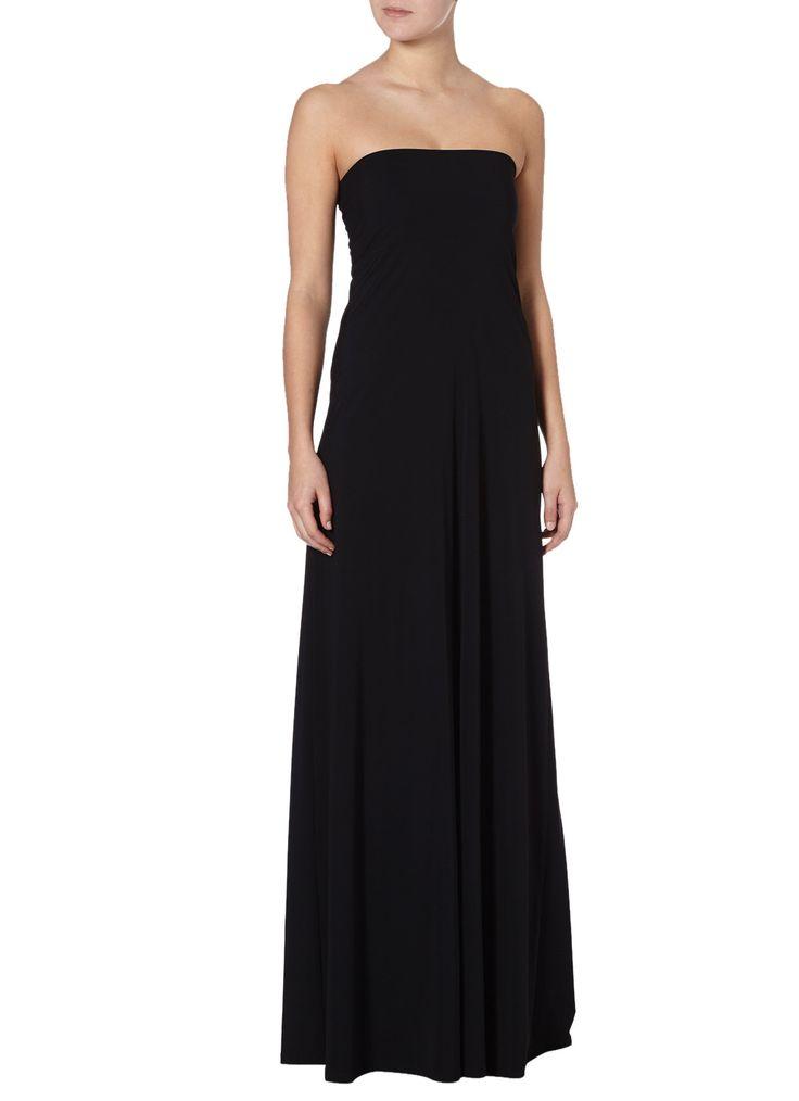 LaDress Saint strapless jurk zwart • de Bijenkorf