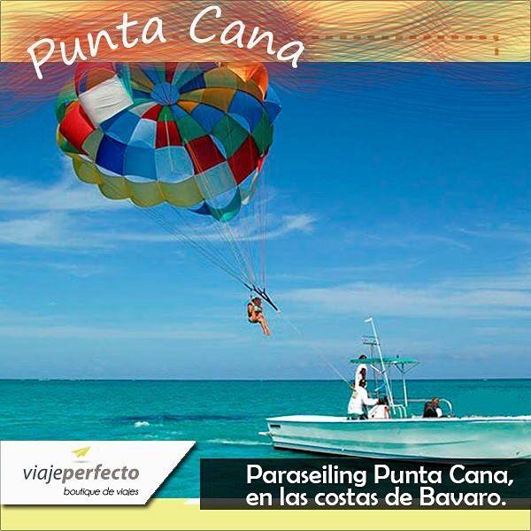 Una mezcla de Naturaleza, Playa y Deporte! Tenemos un #ConsejoPerfecto. Contempla la naturaleza de Punta Cana desde arriba en paraseling!#Puntacana #paraseiling #viajar #travel