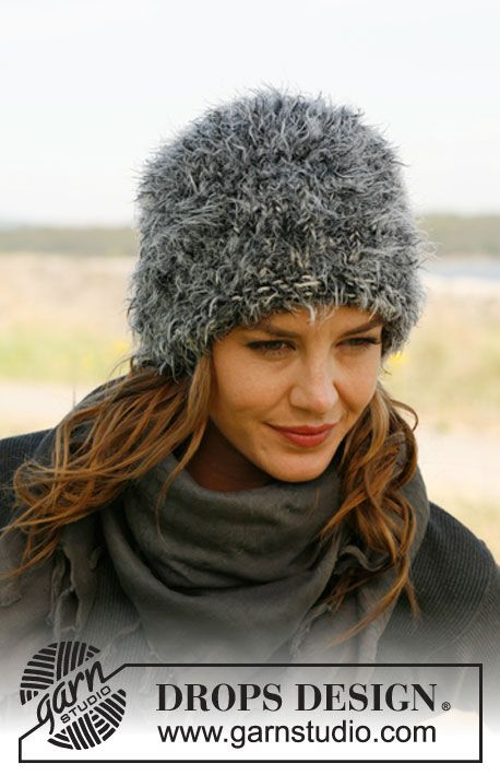 "Free pattern: Knitted DROPS hat in 2 strands ""Symphony"". ~ DROPS Design"