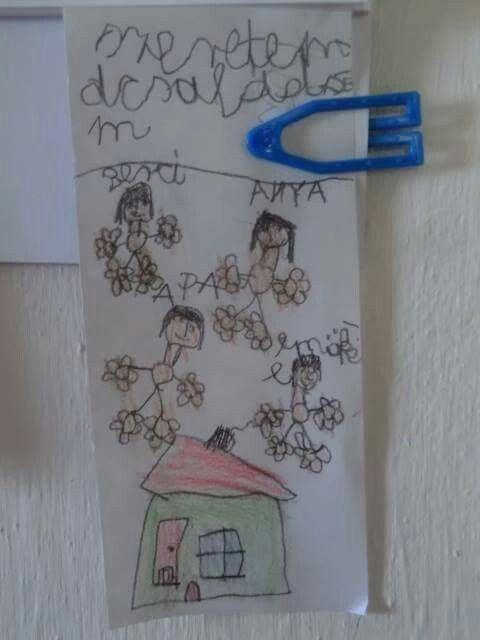 Kisfiam (8 éves) meglepetés rajza. 2014.01.08.