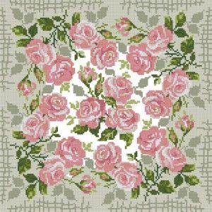 Схема Для подушки Розы