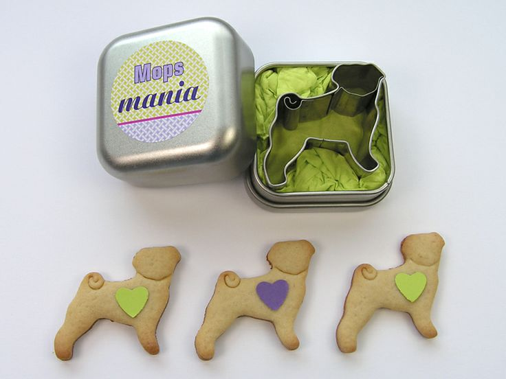 "Geschenkbox ""Mops-mania"" von calini-design auf DaWanda.com"
