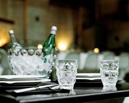 Bolle Bucket (seau à champagne) et verre Bolle en polycristal incassable by italesse en vente chez INEXTOO Labège et Toulouse