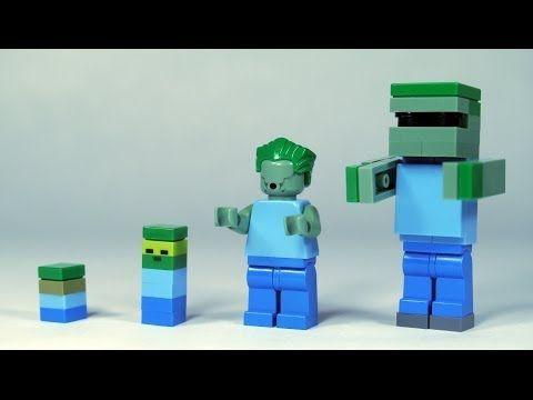 How To Build: LEGO Minecraft Zombie - YouTube