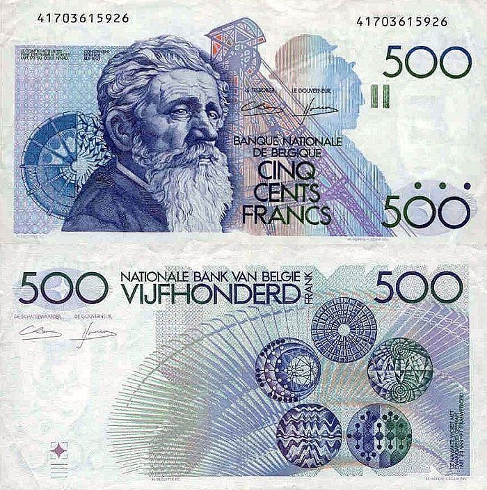 500 Francs Belgium 1998