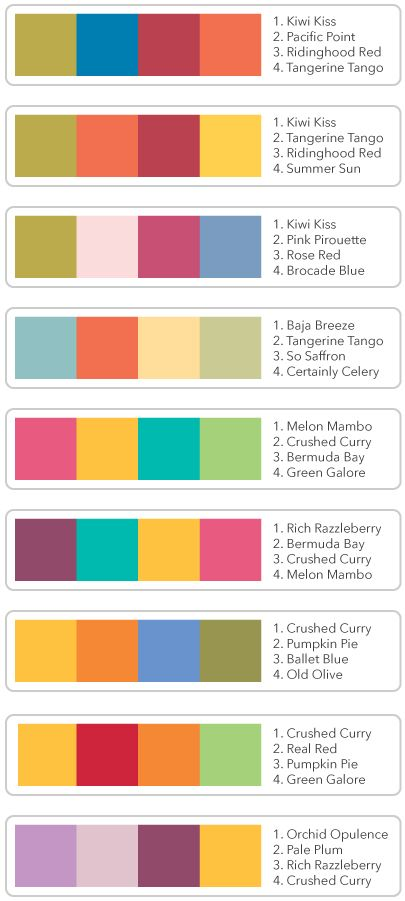 Need Help Coordinating In Colors With Existing The Chart Here Also Includes 4 Of 6 New Coming Out July 1