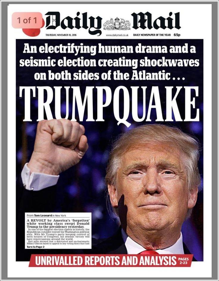 """EUA - Do """"Trumprramoto"""" ao """"Psicopata Americano"""": as capas dos jornais"""