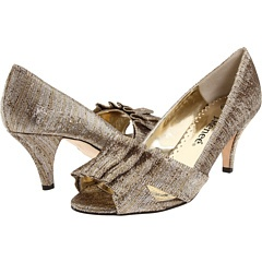 Fantastic platinum gold shoes, perfect for a Mother of the Bride J. Renee Ciciliy $89.95 #Zappos