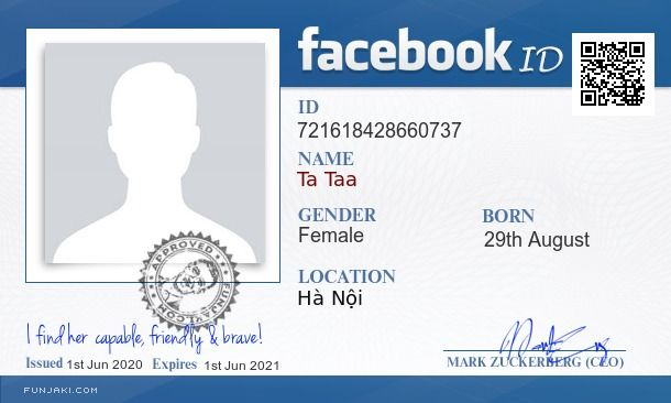 Generate Facebook Id Card Funjaki Com Id Card Template Cards Certificate Design Template