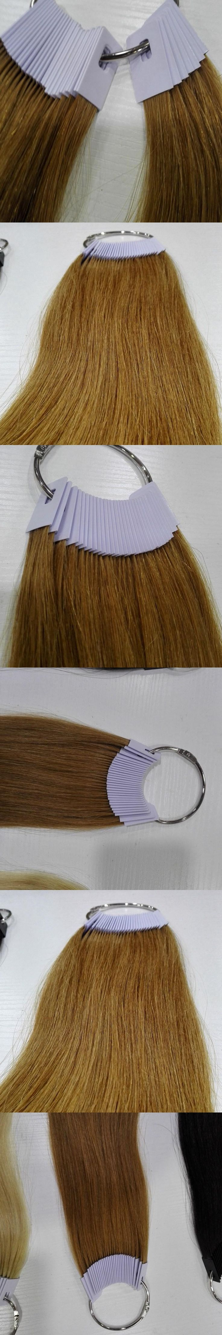 6inch human hair color ring for salon hair  color chart light brown color can change any color