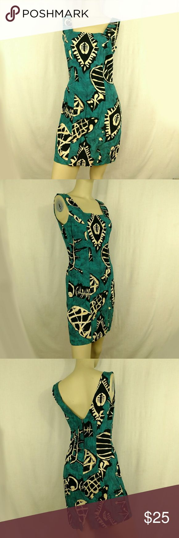 ALL THAT JAZZ Vintage Hawaiian style. 9 / 10 ALL THAT JAZZ Vintage Aztec print Hawaiian Sleeveless Dress Womens size  9 / 10 This is a vintage item in new condition. Measurements are in detailed description.   (G) All That Jazz Dresses