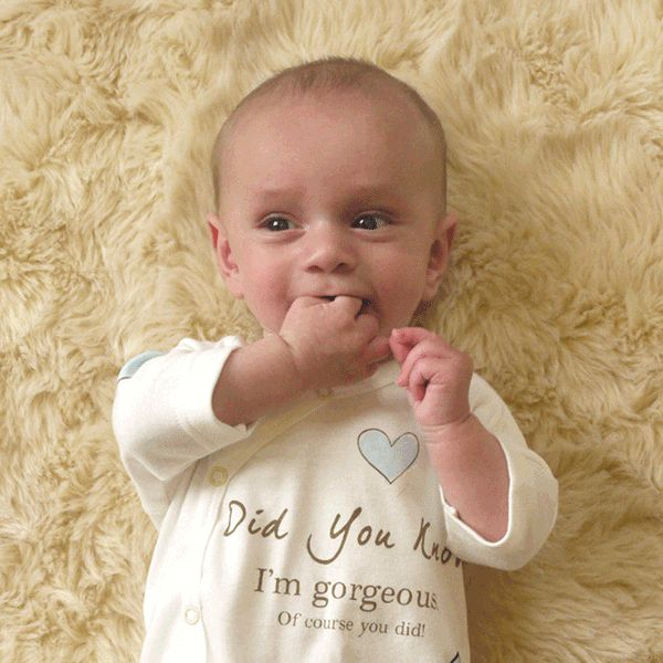 Rufus Rabbit økologisk babydress gutt blå