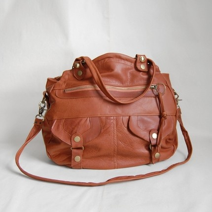 Larch Onishi hybrid bag in whiskey- clip on cross body strap