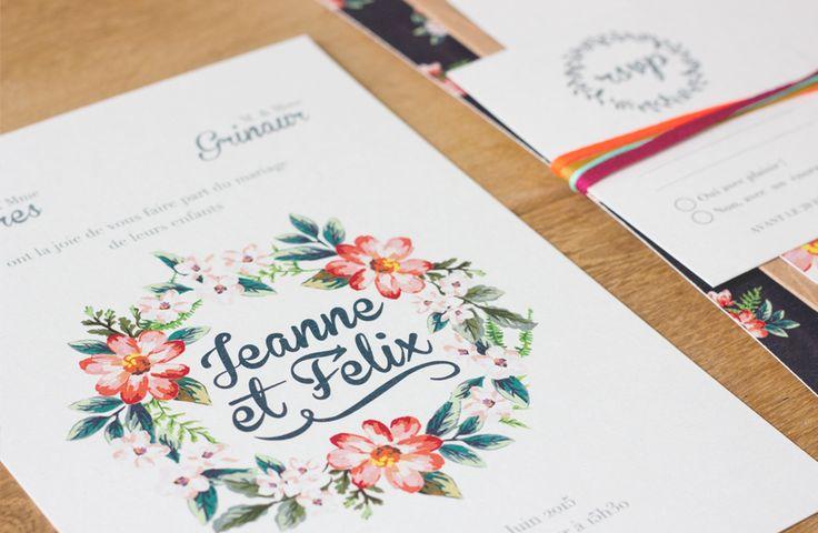 collection fleur vintage faire part mariage creation. Black Bedroom Furniture Sets. Home Design Ideas
