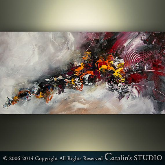 Abstract Painting Painting Original Palette Knife by Catalin, $229.00