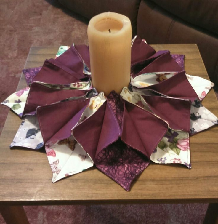 Origami candle mat - thanks to Fiery Phoenix for the tutorial