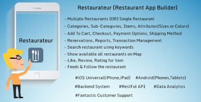 Restaurateur (Solution For Any Restaurants App)