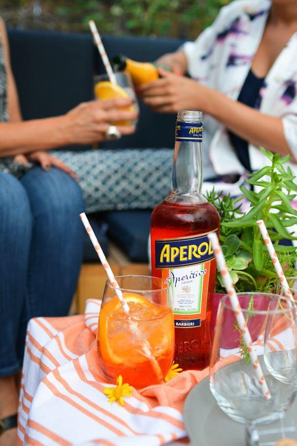 Cocktail with girlfriends. #ad #spritzbreak @aperolusa