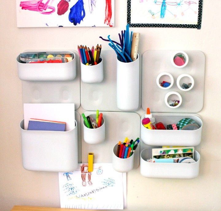 Magnetic makeup organizer diy