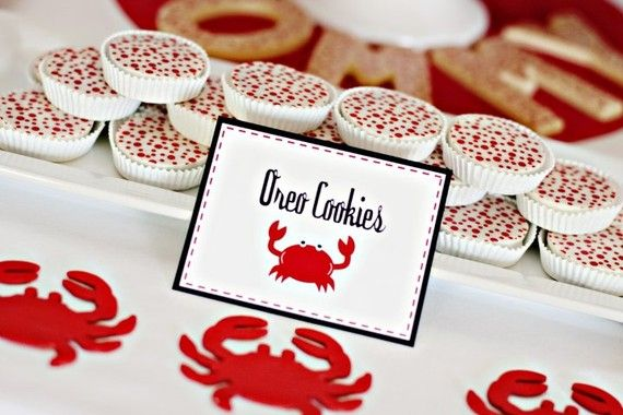 1 Dozen Red SCATTERED POLKADOTS Chocolate Covered Oreos -Crab Shack Birthday Party Favor Ladybug Christmas | fun | Pinterest | Chocolate covered oreos, Crab sh…