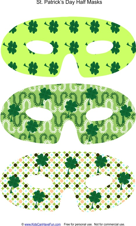 1000 images about st patrick 39 s day printables crafts for Leprechaun mask template