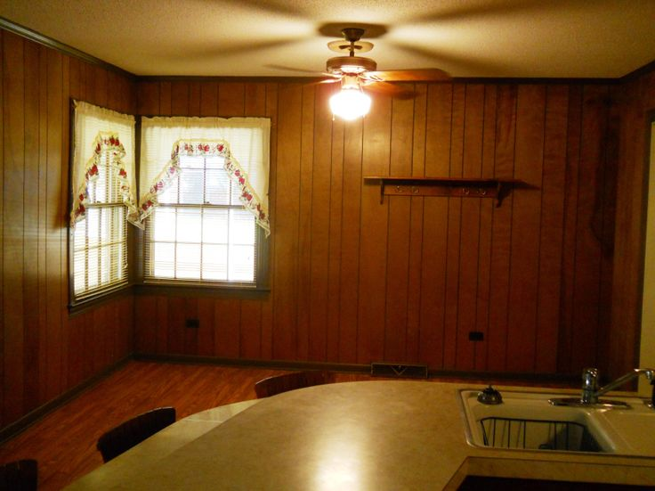 Project Completion: The Kitchen! Wood PanelingWood ... - 19 Best Updating Wood Paneling Images On Pinterest