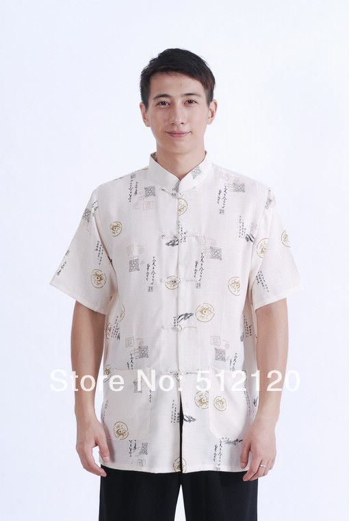 Free shipping new sale cotton linen shirt chinese traditional clothing chinese kung fu shirt hot sale men chinese shirt M0008