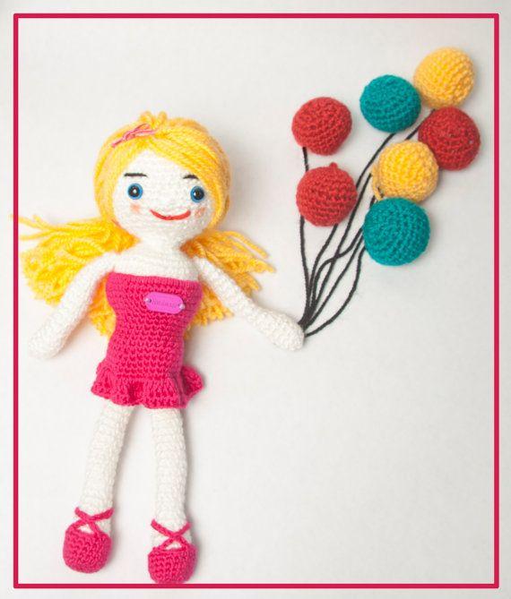 Travel toy  handmade crochet doll Emily amigurumi by HappyTravel