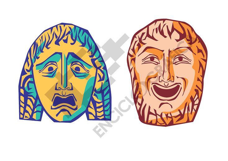 Máscaras griegas   Tienda de SITOgraphics Teatro, comedia y tragedia. Greek Masks   SITOgraphics Store Theatre, comedy and tragedy