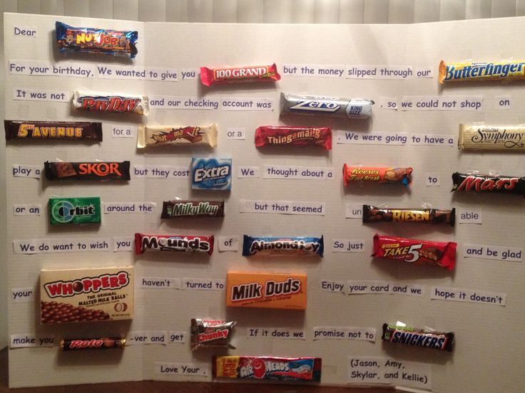 Birthday Candy Bar Poem - I will be doing this soon ...