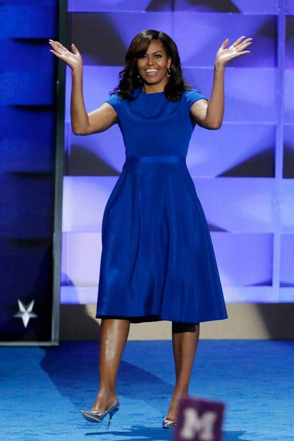 """""""Incredible speech by an incredible woman. Couldn't be more proud and our country has been blessed to have her as FLOTUS. I love you, Michelle.""""- President Barack Obama <3 First Lady, thank you for being an inspiration to us all! #becauseofthemwecan #michelleobama"""
