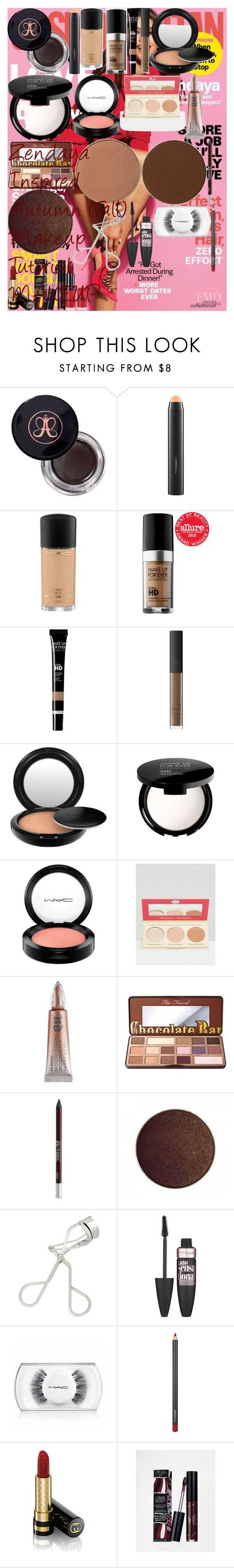 """""""Zendaya Inspired Autumn (Fall) Makeup Tutorial   MAKEUP"""" by oroartye-1 on Polyvore featuring beauty, Anastasia Beverly Hills, MAC Cosmetics, MAKE UP FOR EVER, NARS Cosmetics, TheBalm, Urban Decay, Too Faced Cosmetics, shu uemura and Maybelline"""