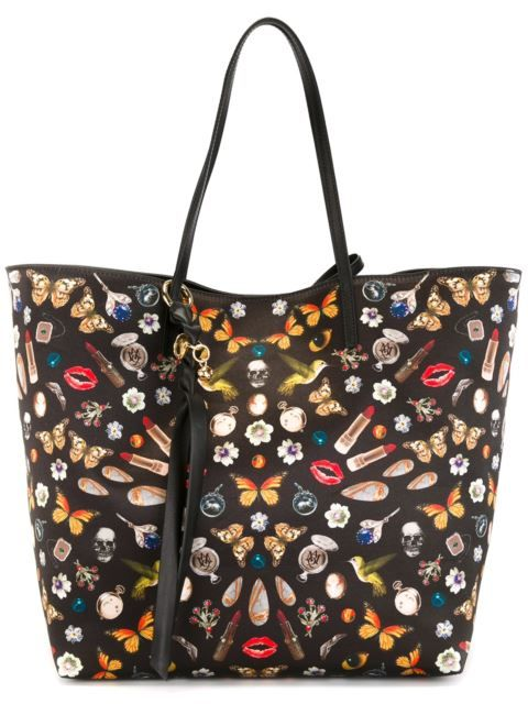 Alexander McQueen large miscellany print tote