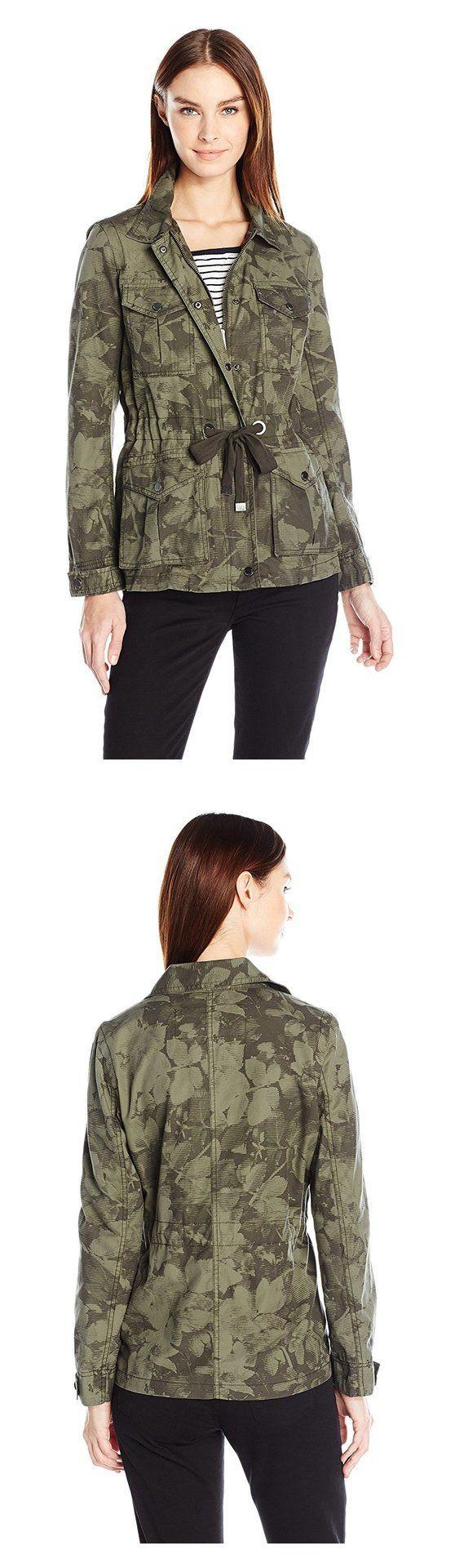 $98.78 - Calvin Klein Jeans Women's Camo Utility Field Jacket Peat #calvinklein