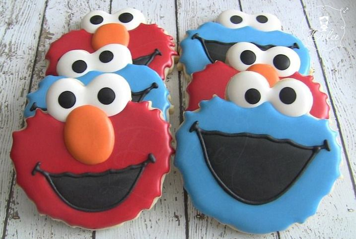 perfect elmo and cookie monster cookies by dolce