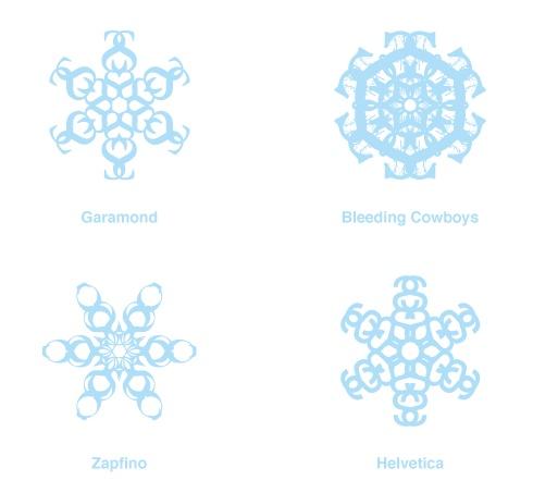 Shapeshifter - Xmas typo snowflakes