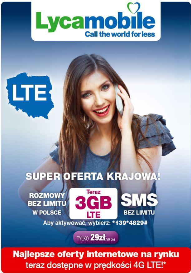 LTE w Lycamobile