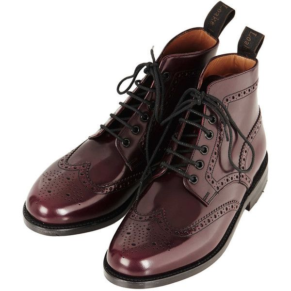 Traditional Brogue Boot by LOAKE for Topshop