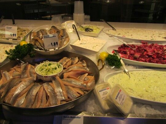 Selection of herring from nordsee