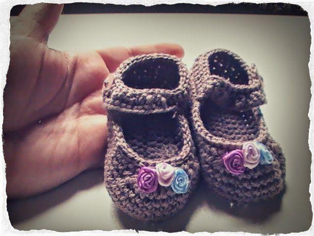 ... merceditas para bebes a crochet Margarita Knitting. Con tutorial