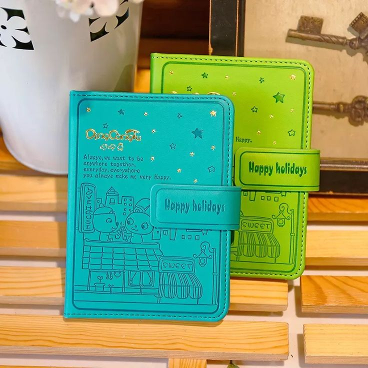Students Diary Color Notebook Magnetic Buckle Leather Line Notebook Journal