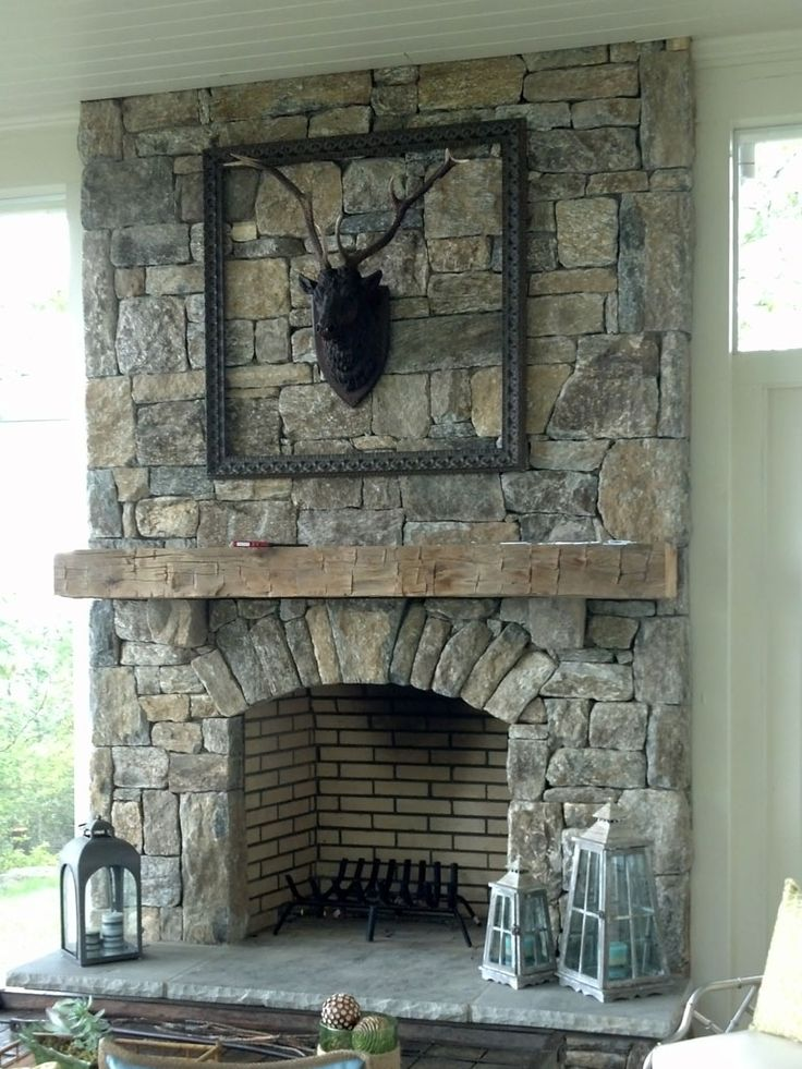 Interior:Inspiring Natural Stone Fireplace Design Ideas Feat Arched Front  Side And With Antique Stone