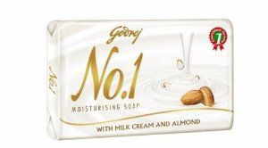 Godrej No.1 Moisturising Soap by Godrej No.1 Moisturising Soap with goodness of milk cream and almonds.. $4.66. with natural oils to moisturise and nourish your skin. the goodness of milk cream and almonds. 100% halal and vegeterian soap. Godrej No.1 Moisturising soap. Moisturising Soap Godrej No. 1 launches 'Moisturising Soap' with nourishment of Milk Cream & Almonds to keep your skin naturally moisturised, smooth & soft in winter without using multiple winter c...