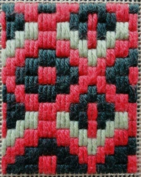 Барджелло - вышивка на сетке