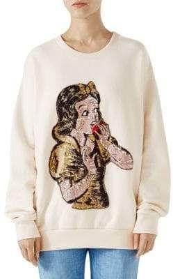 a83ec9a4d9c6 Gucci Sequin Snow White Sweatshirt #afflink   Womens Sweats and ...