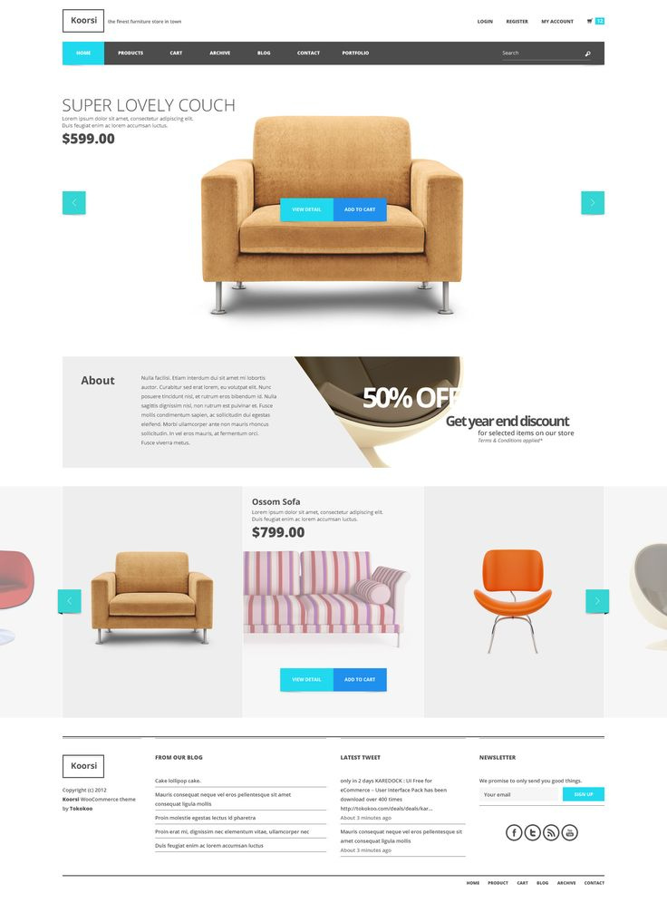 super clean web design